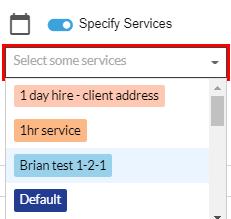 multiple services dropdown