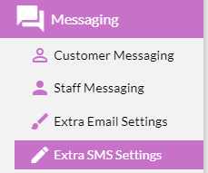 Extra SMS Settings
