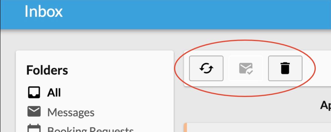 Inbox buttons