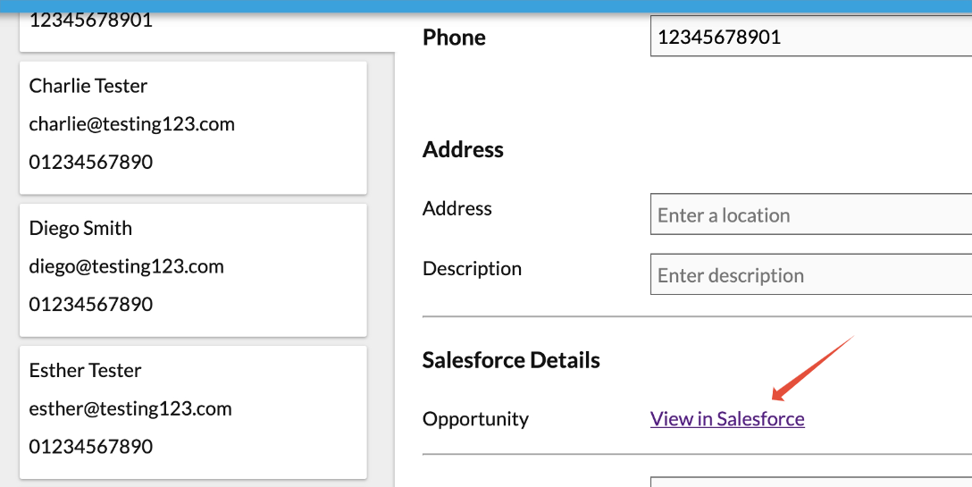 View specific client in Salesforce