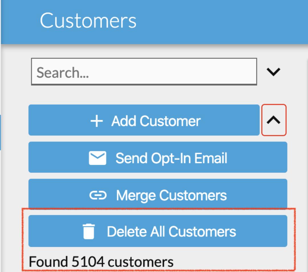 delete customers in bulk