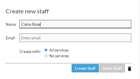 create new staff