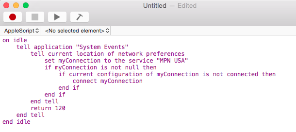 Mac OS X PPTP VPN Auto Start Script