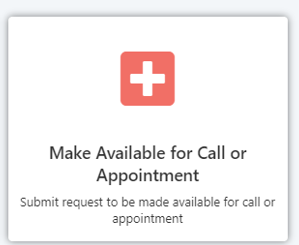 Image of Available Call or Appointment - Red with Plus sign