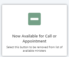 Image of Available Call or Appointment - Green with minus sign