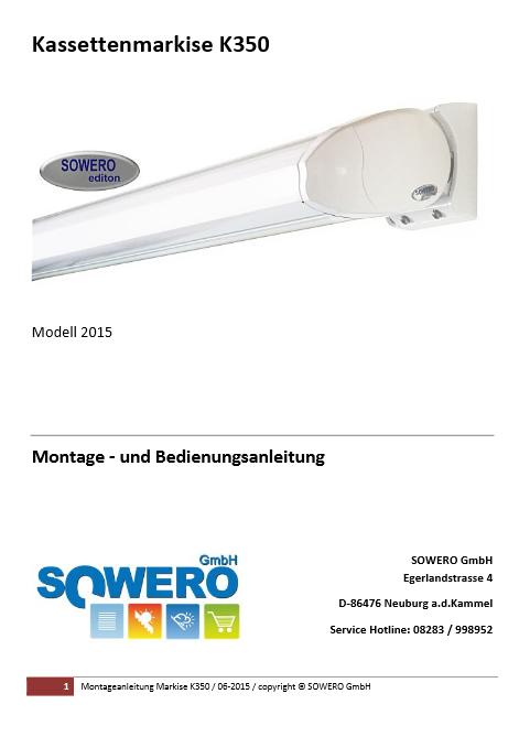 Download Montageanleitung K350 Modell 2015