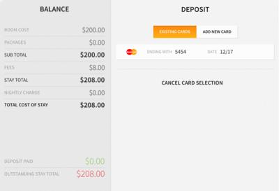Deposit/Balance : Helpdesk StayNTouch