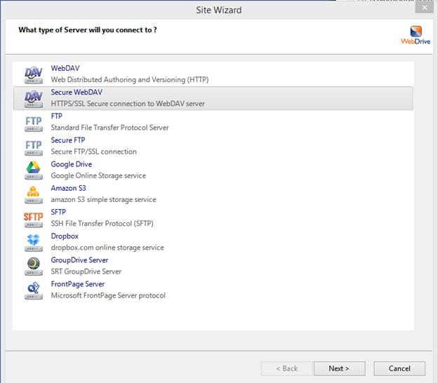 Amazon cloud drive webdav settings