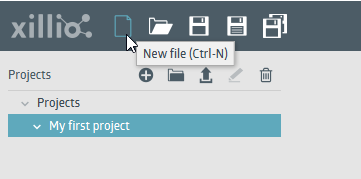 Add a new file to your project