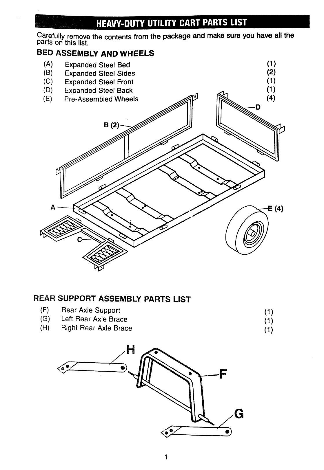 Manual: Garden trolley utility cart No.4211 : Klika