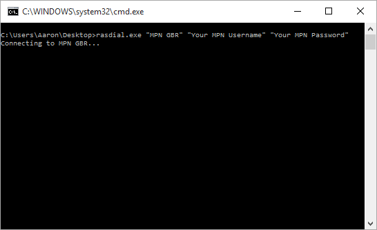 The command prompt box that popped out after launching the batch file.