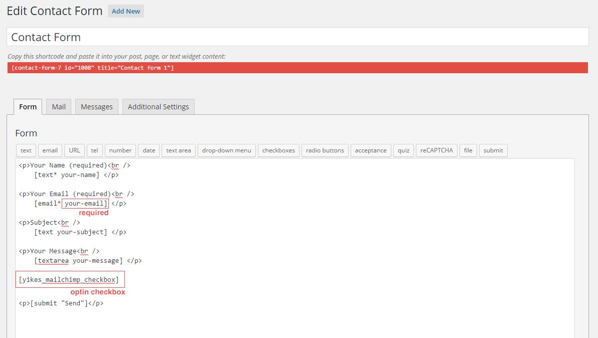 Contact Form 7 Integration - YIKES WordPress Plugins