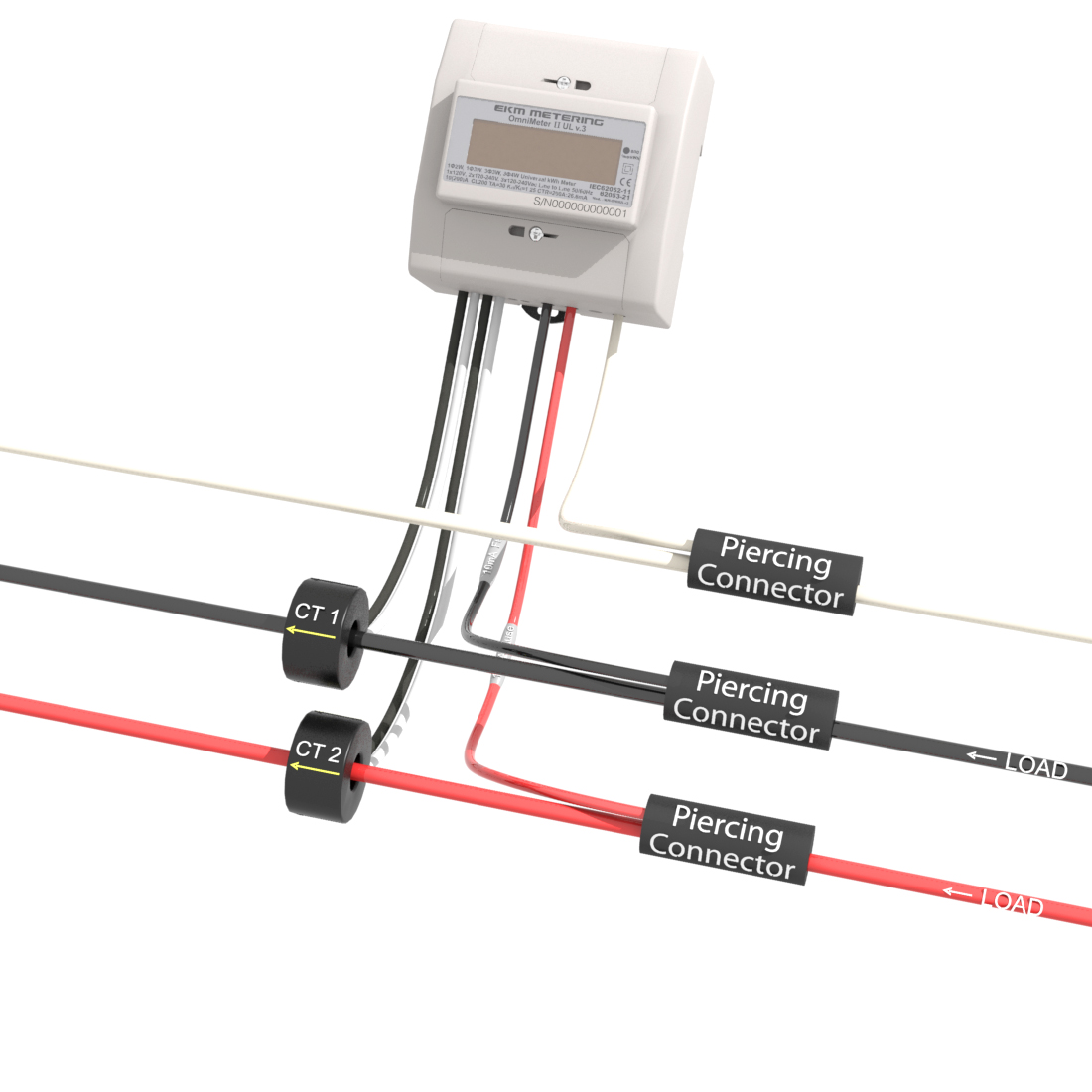 Single phase 3 wire 120/240v metering : EKM Support Desk