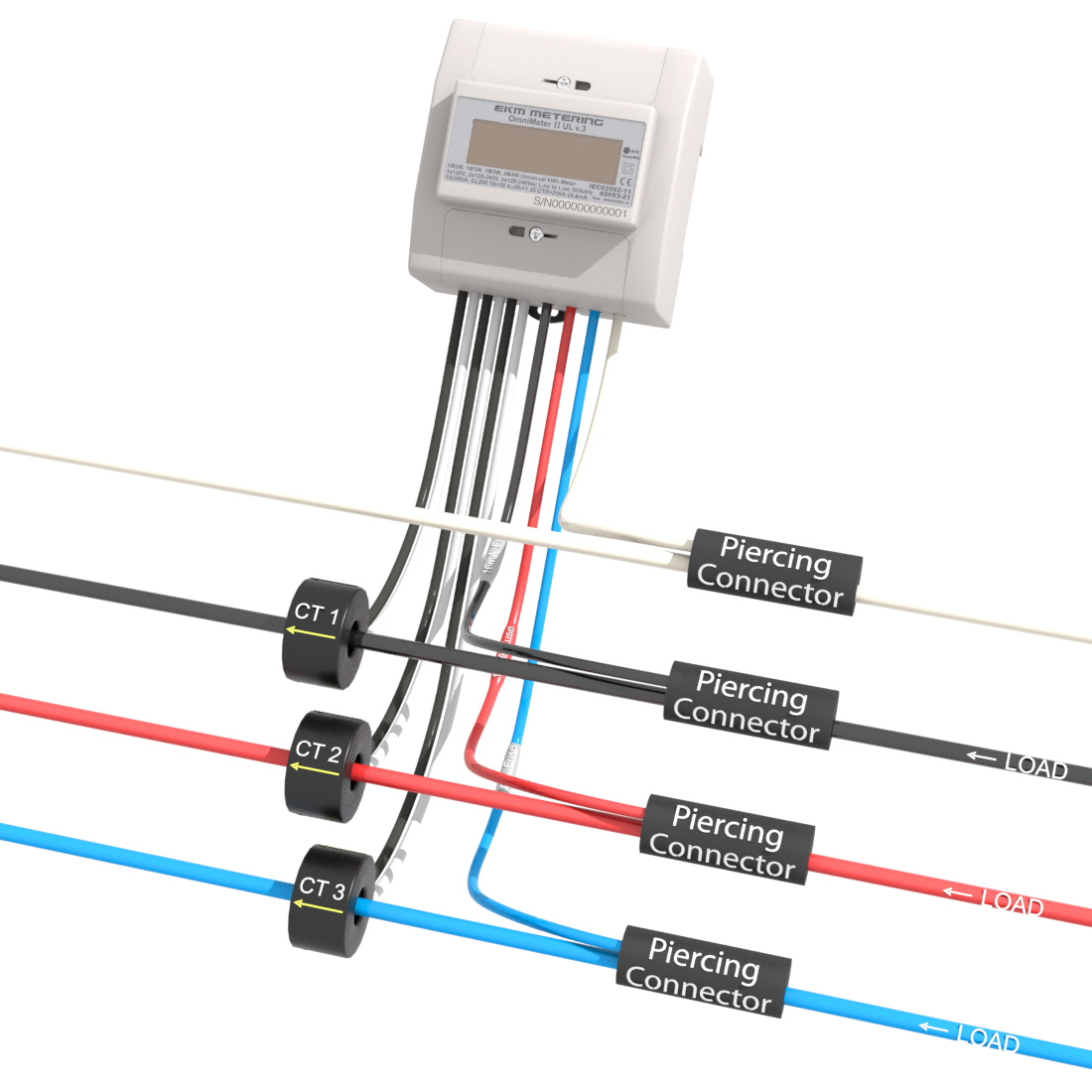 3-phase 4-wire Metering up to 480V : EKM Support Desk