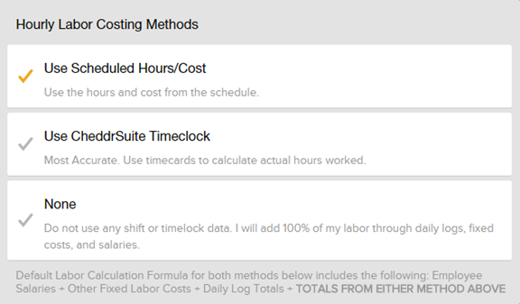 Hourly Labor Costing Methods