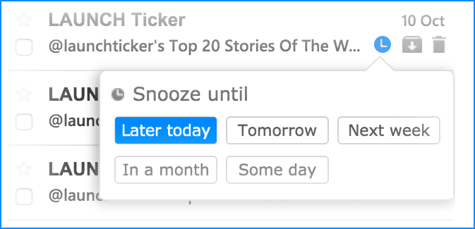Sortd Snooze Feature