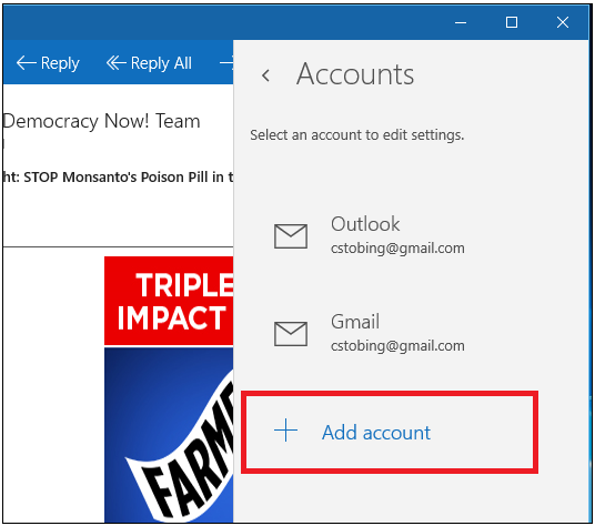 how to stop email pop up windows 10