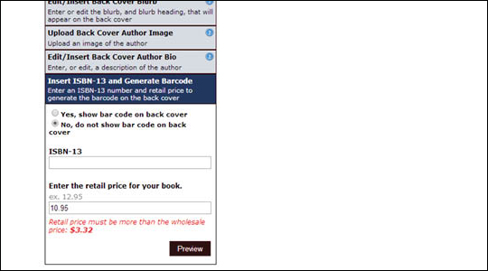 Add ISBN Barcode to Cover - step 5