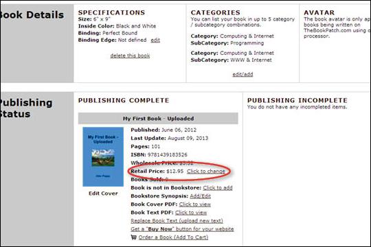 Edit Retail Price - No ISBN - step 4