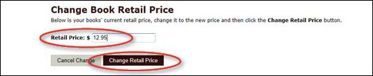 Edit Retail Price - No ISBN - step 5
