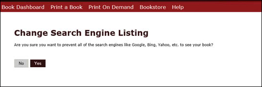 Hide Book From Search Engine - step 5