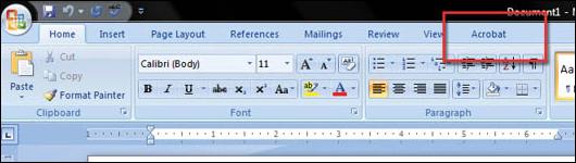 Convert Word 2007 to PDF - step 3