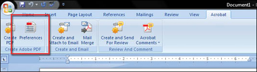 Convert Word 2007 to PDF - step 4