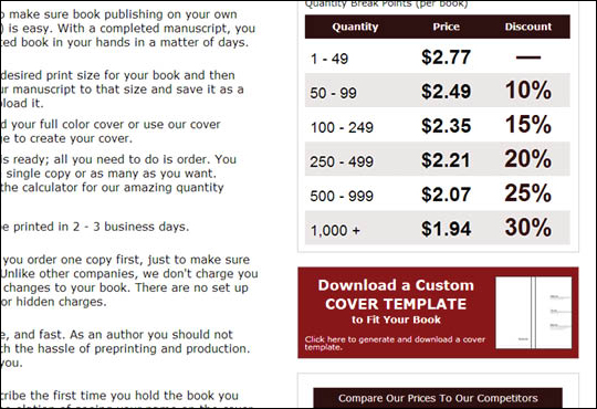 Using Download Cover Template Page - step 1