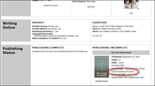Delete a Book Version - step 4