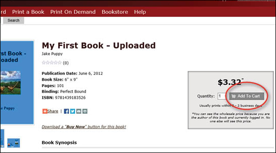 Ordering Additional Books - step 5