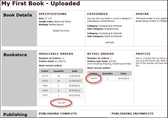 View Book Retail Orders - step 4