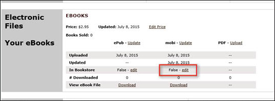 Remove eBook From Bookstore - step 5