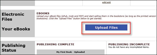 Upload eBook Files - step 3