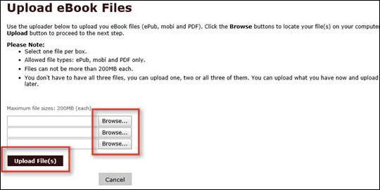 Upload eBook Files - step 4