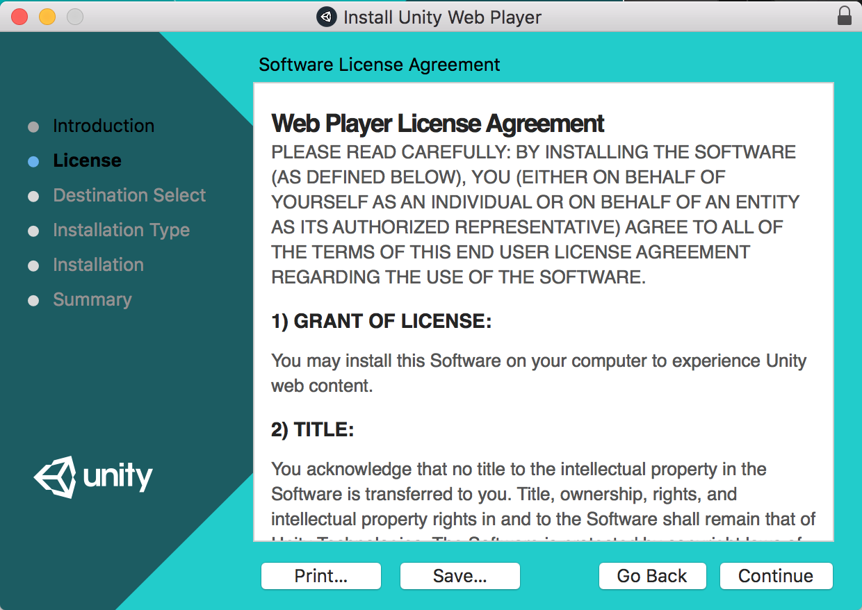 How to install Unity Web Player on Mac OS X : MyCognition