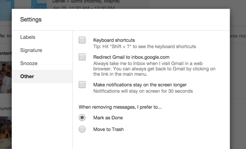 How do I load into Gmail rather than Inbox? : Help Desk