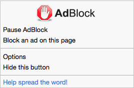 AdBlock menu in Safari (content blocking)