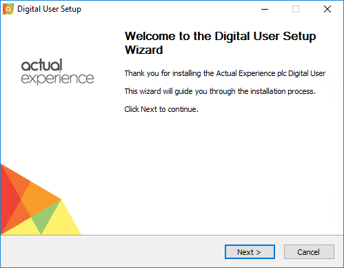 DU (Digital User): Windows DU Installation : Actual