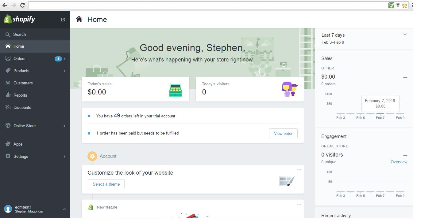 Creating Shopify Private App  : ECM Help