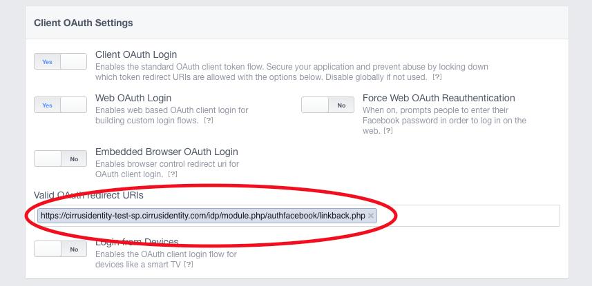 Adding Authorized Redirect URLs to social provider API