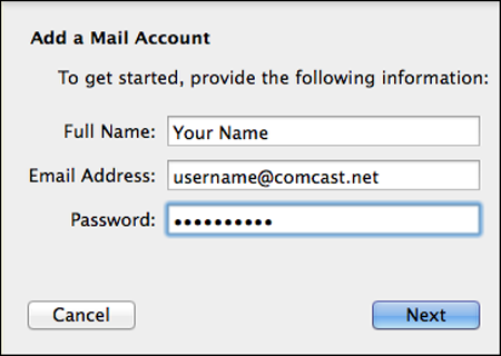 How To Setup Your Comcast Email With The Mail App Clinton Public School District