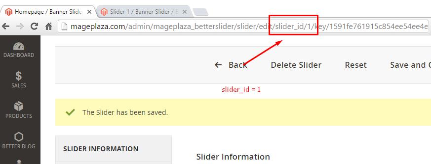 banner slider id