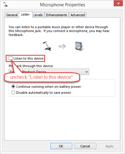 Adjust sound recording setting for Conexant audio driver on
