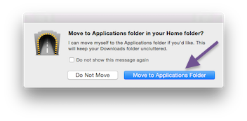 Move Shimo to Applications Folder in macOS