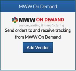 Click On Add Vendor Under MWW Demand