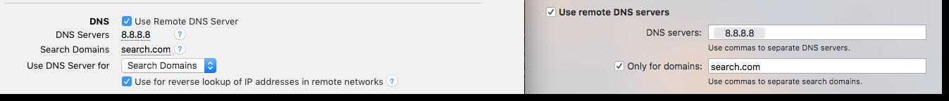 DNS setting