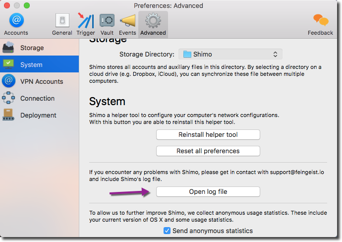 Shimo Advanced System Preferences