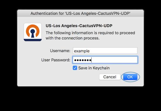Autenticate new VPN account