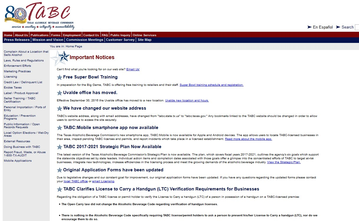 tabc certification seller support certificate reported option select been 360training texas training left