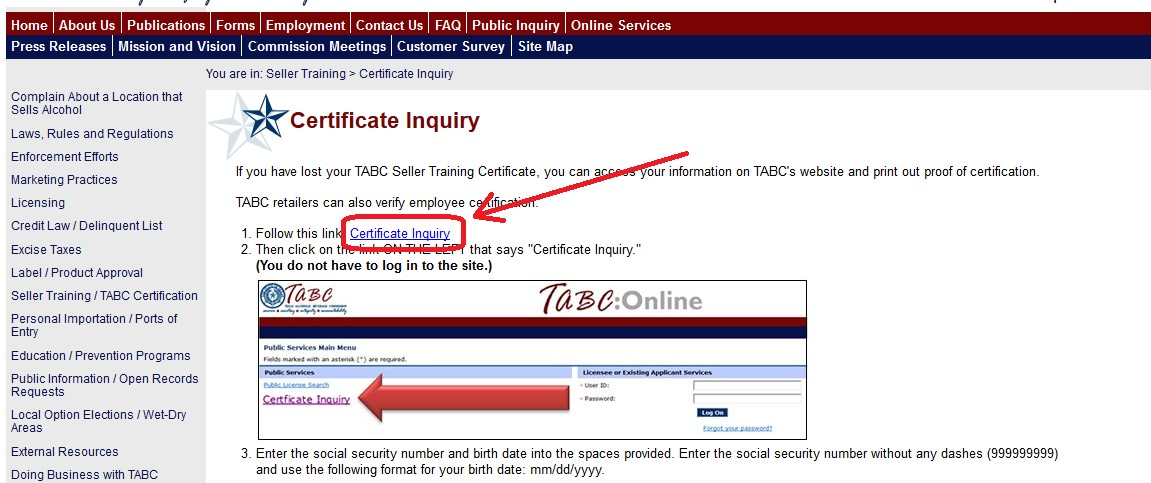 How can I check if my TABC completion has been reported ...